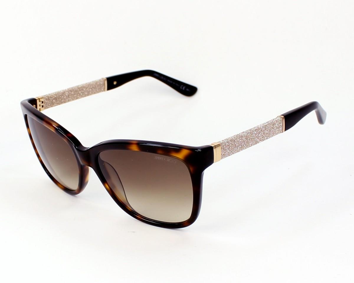 24ce9dce38f3 thumbnail Sunglasses Jimmy Choo CORA-S FA5 JD - Havana Gold profile view
