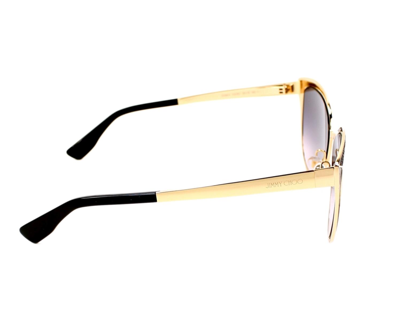 c7cae05c6fa Sunglasses Jimmy Choo Domi-S PSU 9C - Gold Black side view