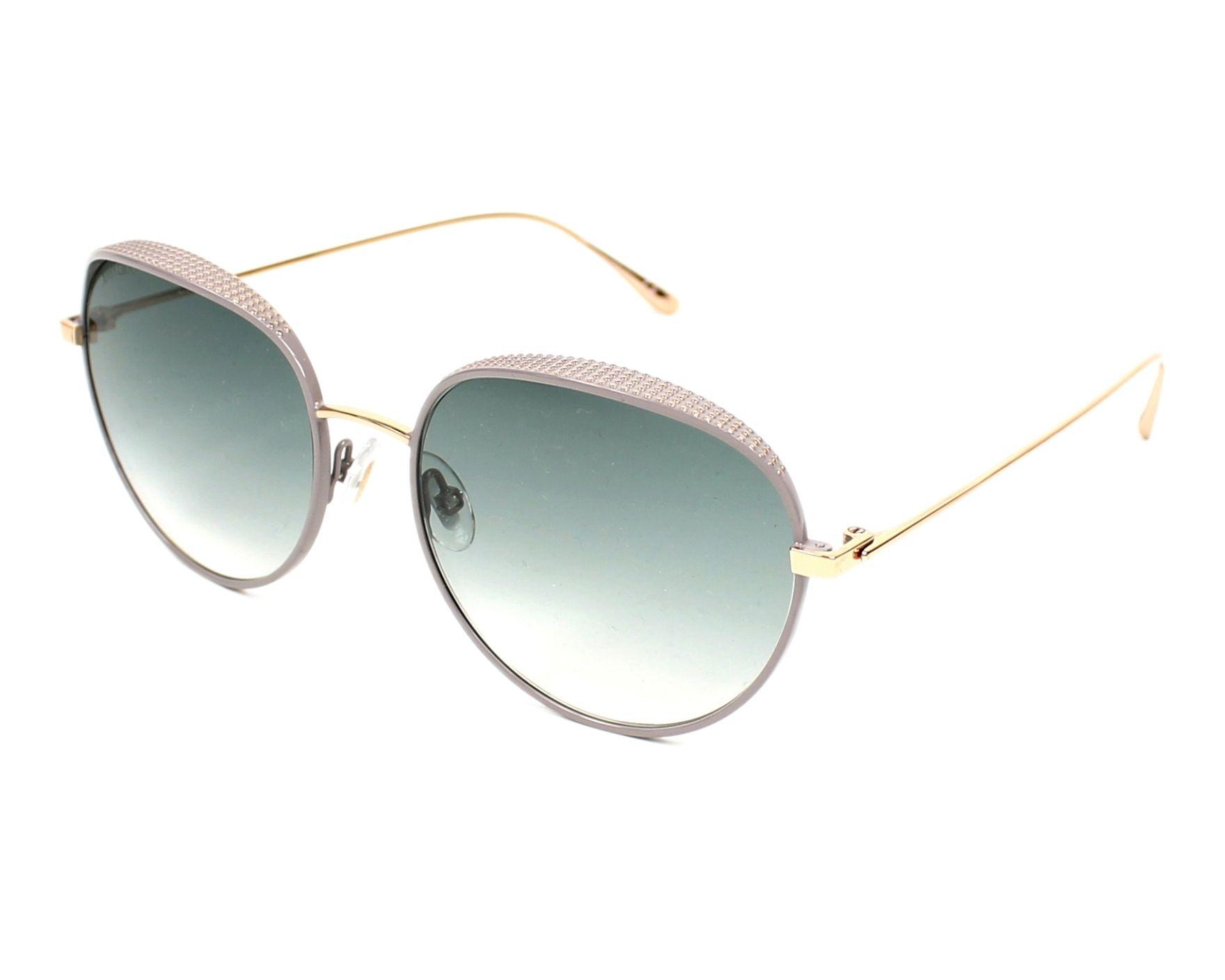 b8113c610a62 Sunglasses Jimmy Choo ELLO-S NOQ 56-18 Gold Grey profile view