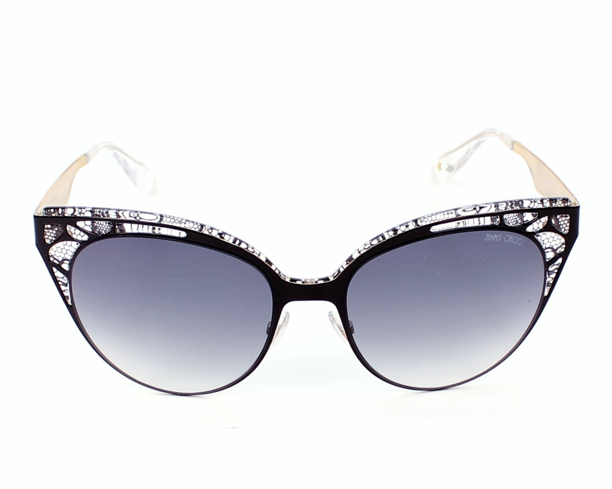 f9d9a1b254c5 thumbnail Sunglasses Jimmy Choo ESTELLE-S ENY/LF - Black front view