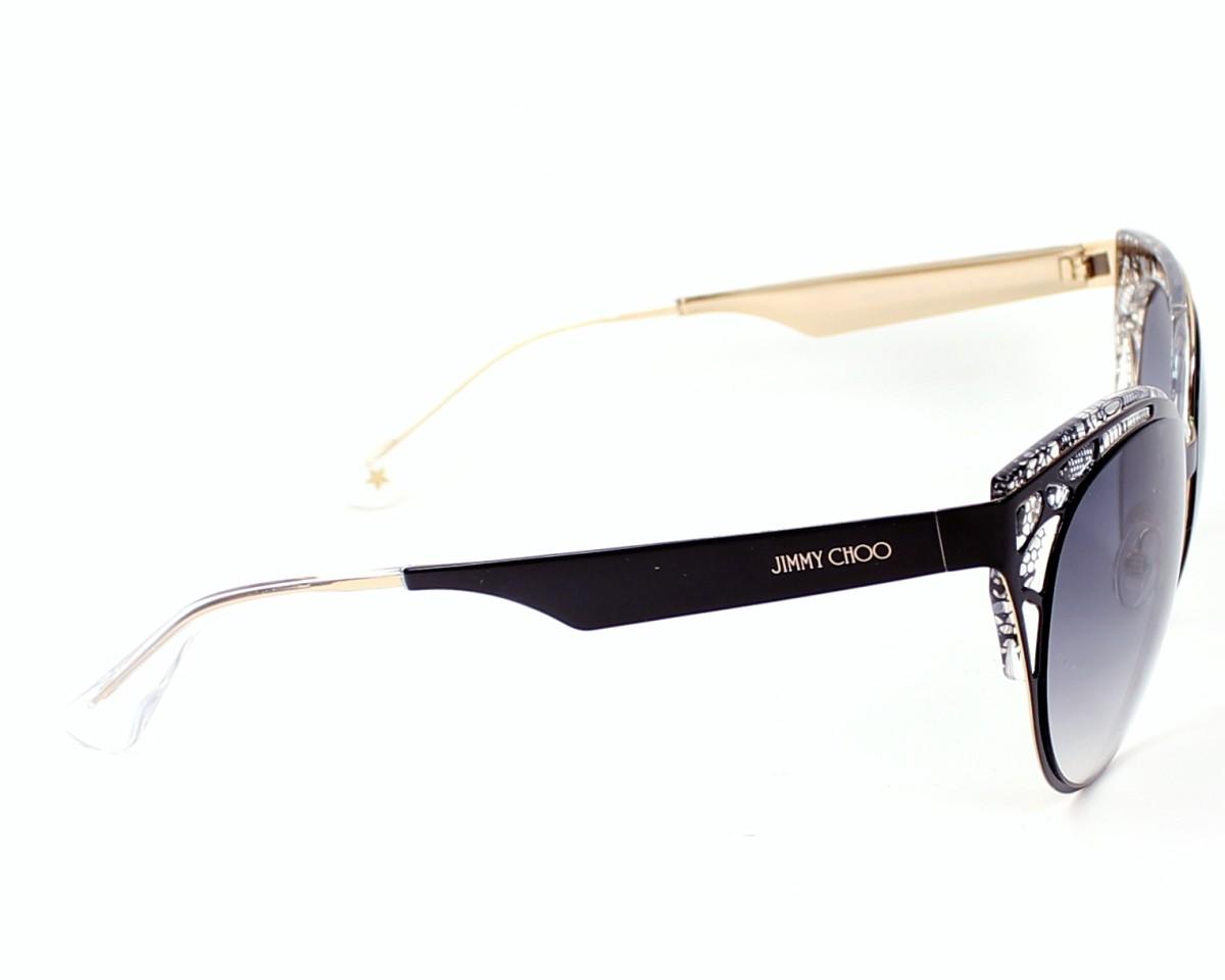 0a0304a005ee thumbnail Sunglasses Jimmy Choo ESTELLE-S ENY/LF - Black side view
