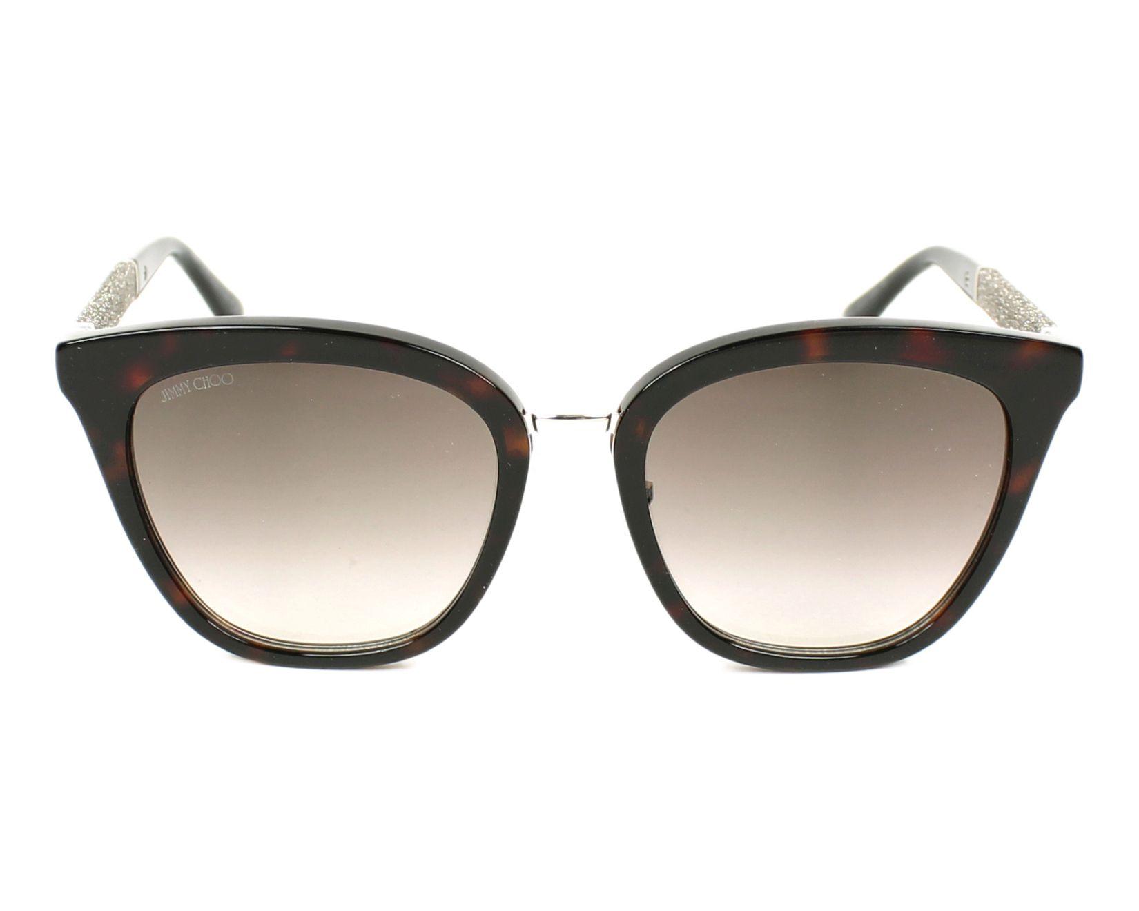 Jimmy Choo Fabry/S Sonnenbrille Havanna und Glitter KBE 53mm JntPaDtWbI