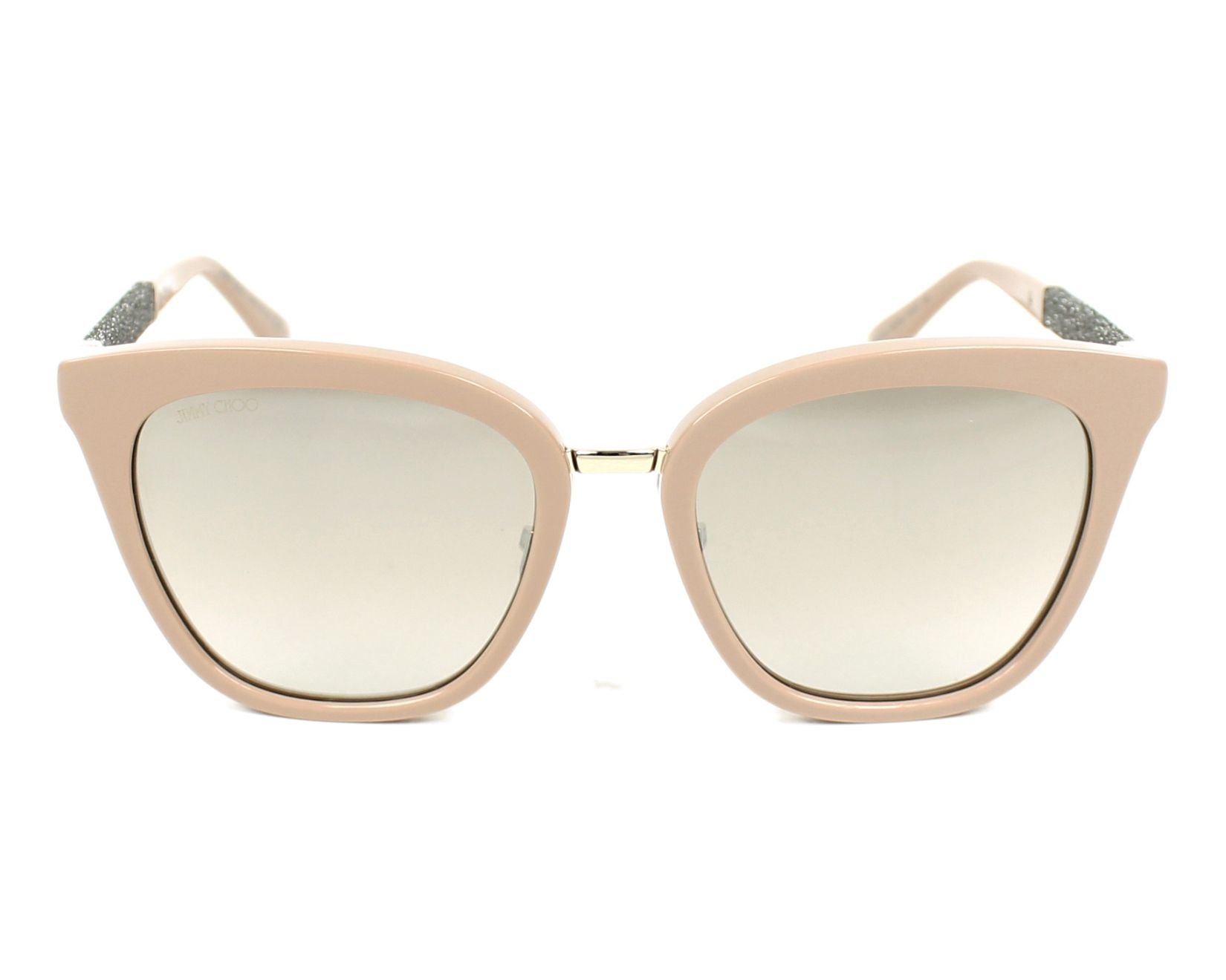 00fc10471e5 thumbnail Sunglasses Jimmy Choo FABRY-S KDZ NQ - Beige Silver front view