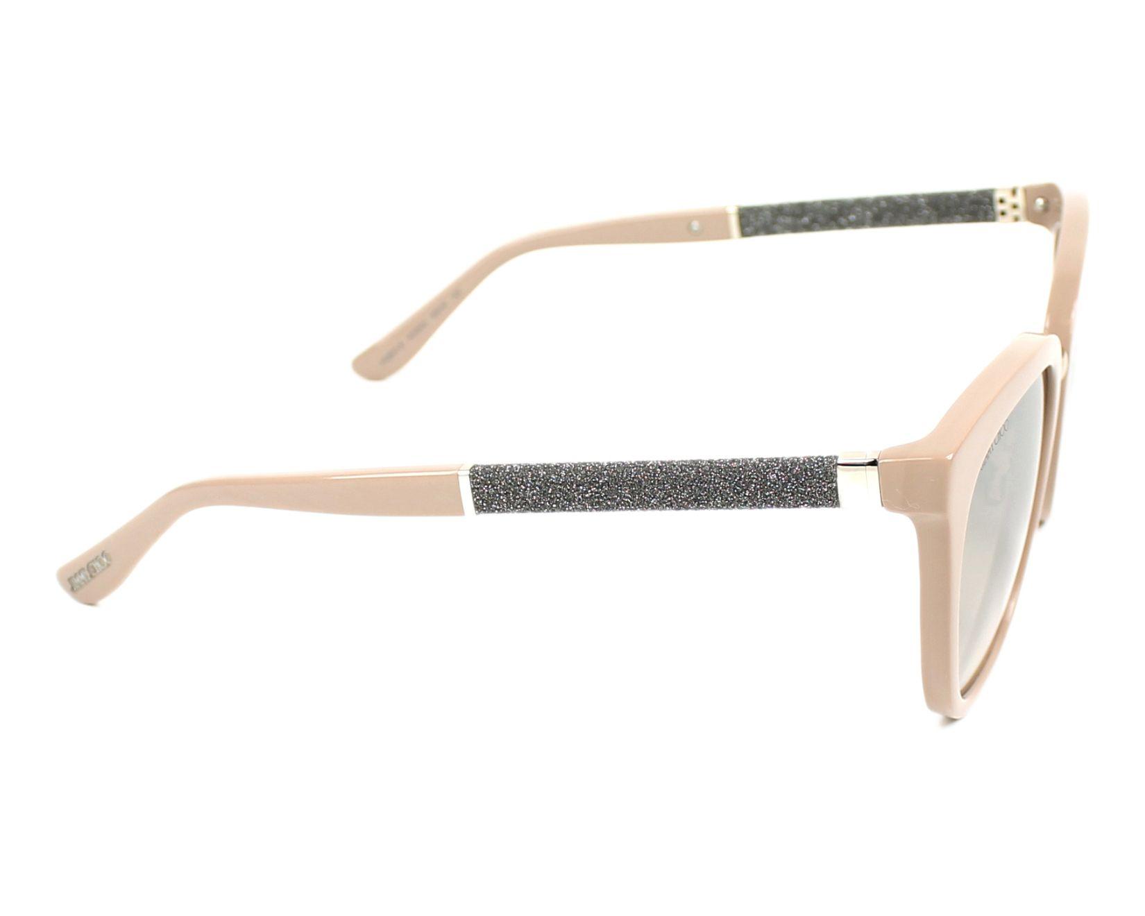 c78a07f1ec thumbnail Sunglasses Jimmy Choo FABRY-S KDZ NQ - Beige Silver side view