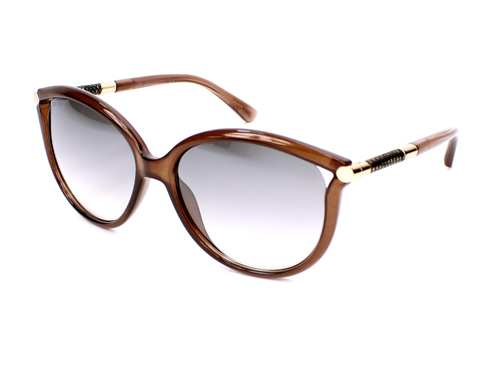 188e5a81533 thumbnail Sunglasses Jimmy Choo GIORGY-S QD9 IC - Brown profile view