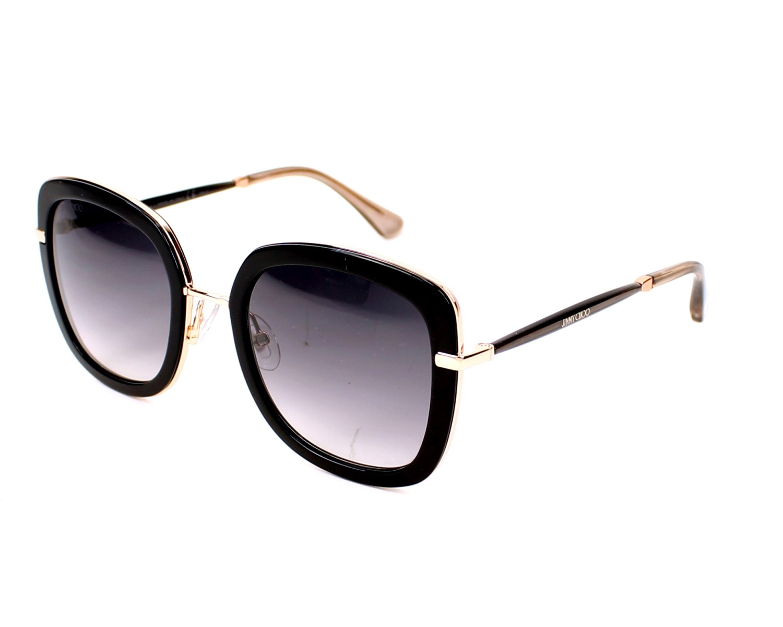 Jimmy Choo Sunglasses Black With Black Lenses Glenn S Qbe 9c Visionet Us