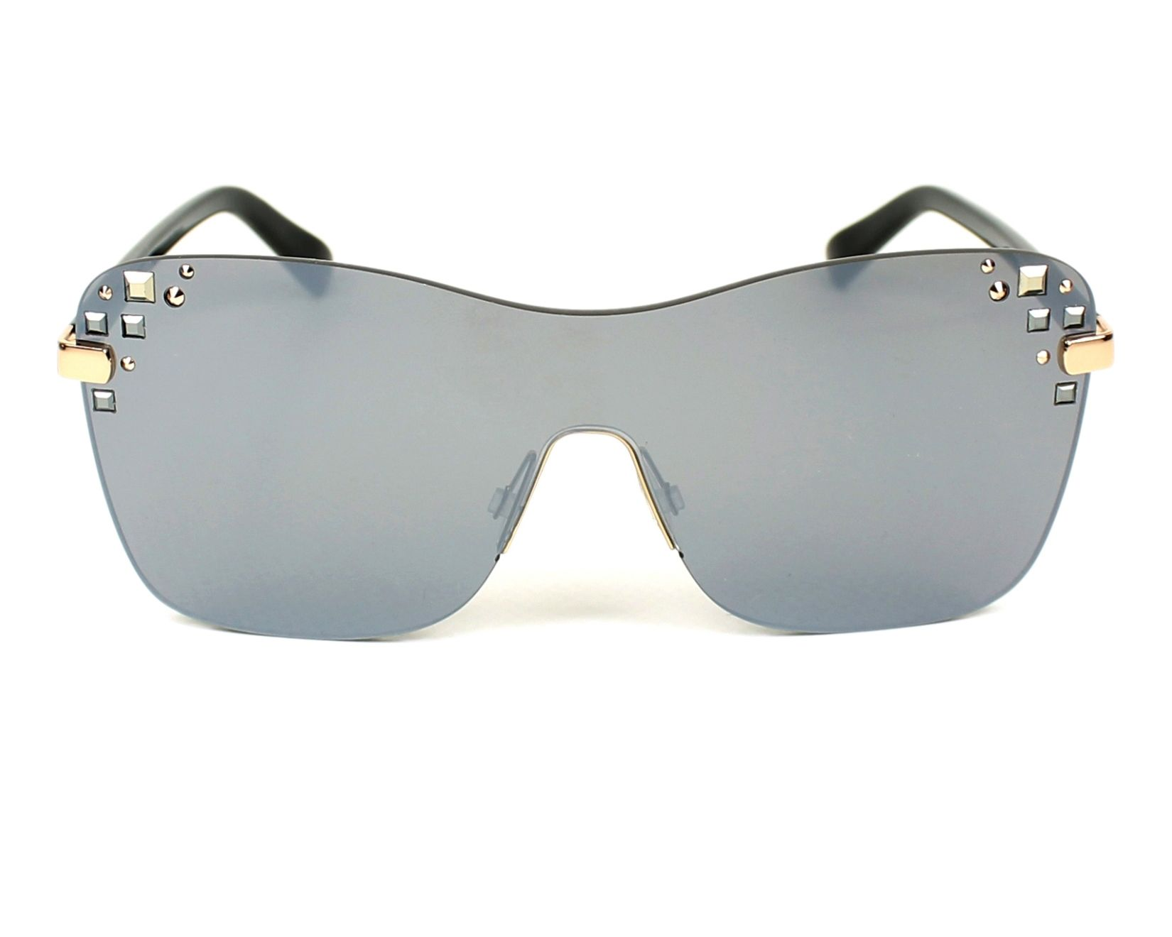 b2b1e67b784 thumbnail Sunglasses Jimmy Choo MASK-S SRF U4 - Black front view