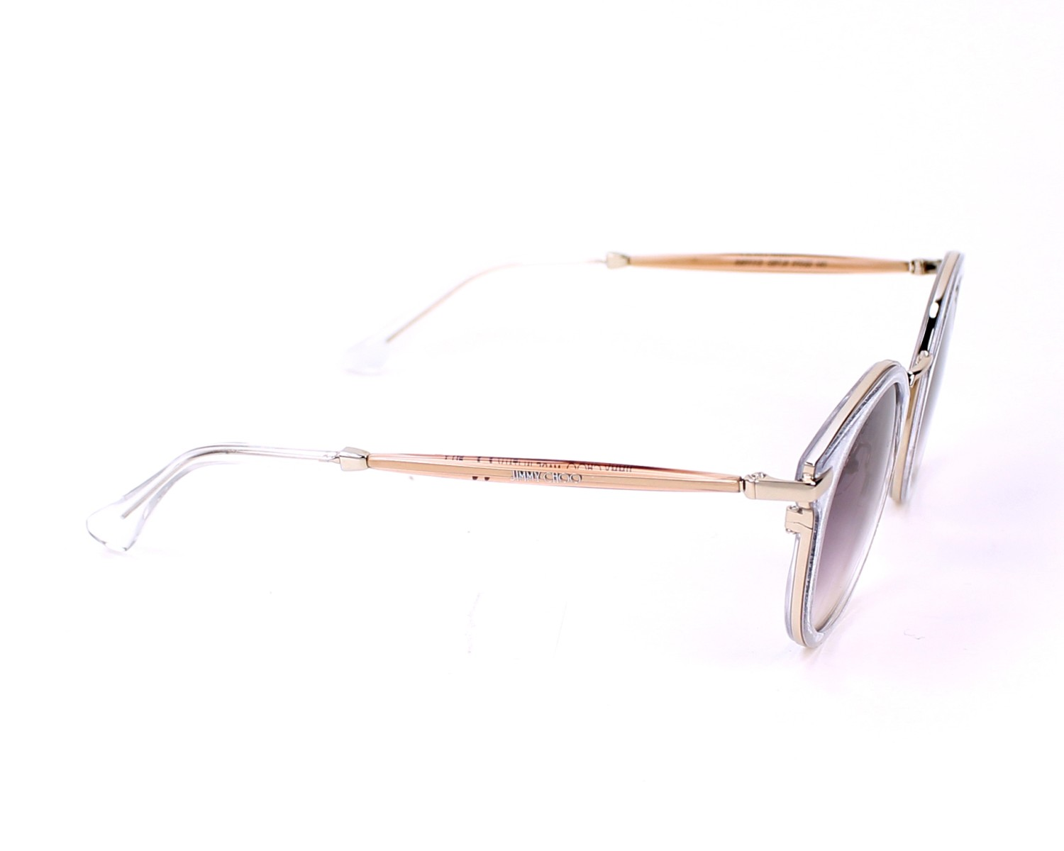92491425b004 thumbnail Sunglasses Jimmy Choo RAFFY-S QBT/J8 - Clear Silver side view