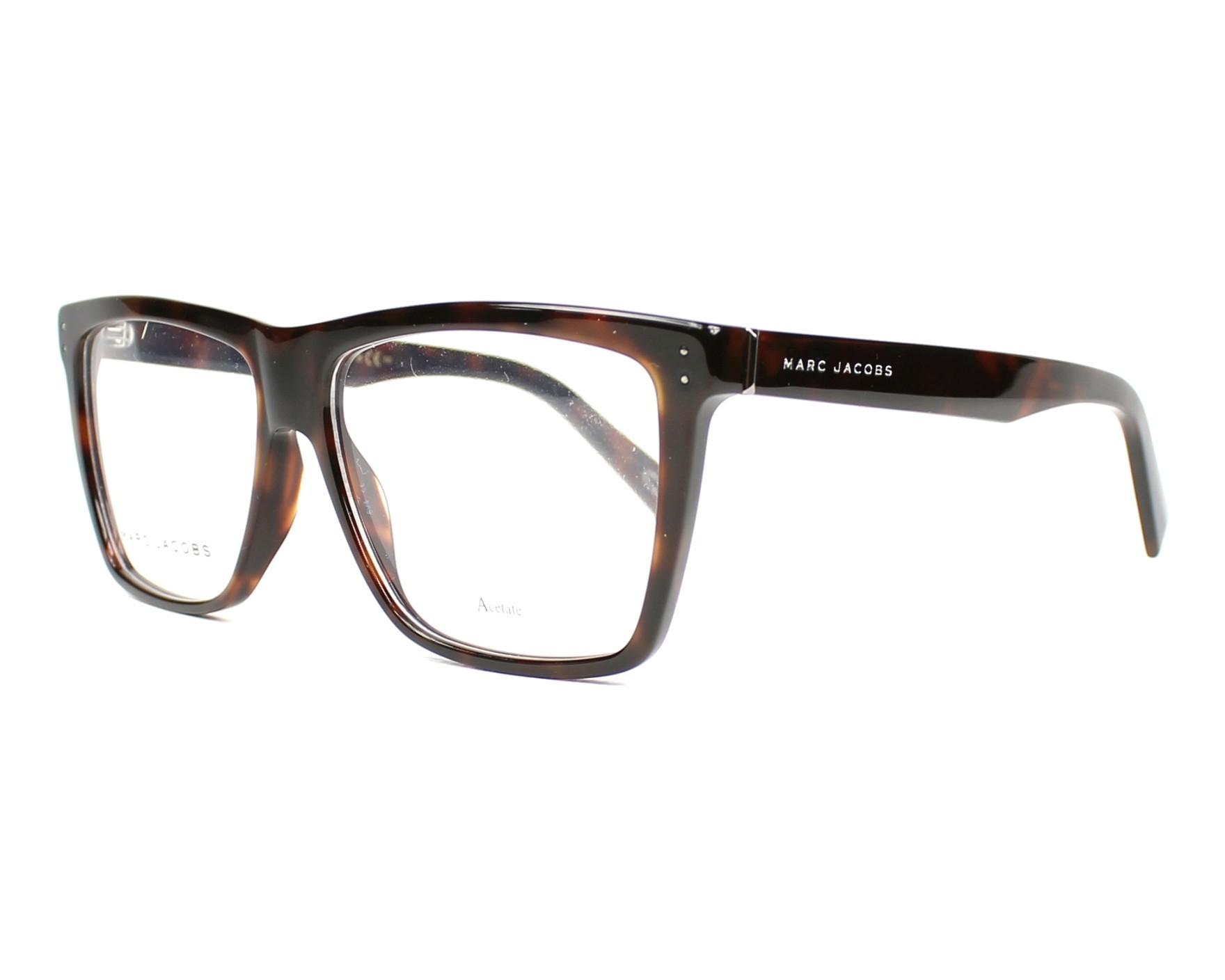 marc jacobs eyeglasses marc 124 zy1 havana visio. Black Bedroom Furniture Sets. Home Design Ideas