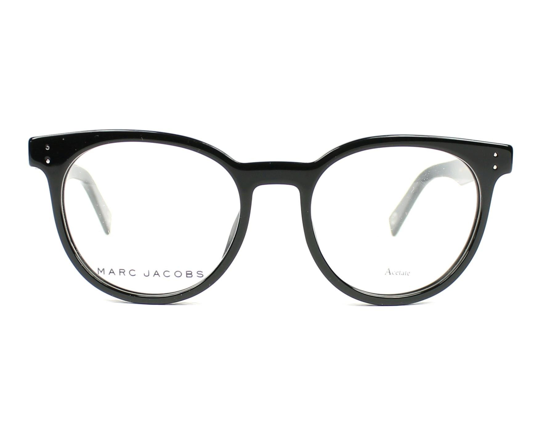 c09eac5dde6b7 eyeglasses Marc Jacobs MARC-126 807 - Black front view