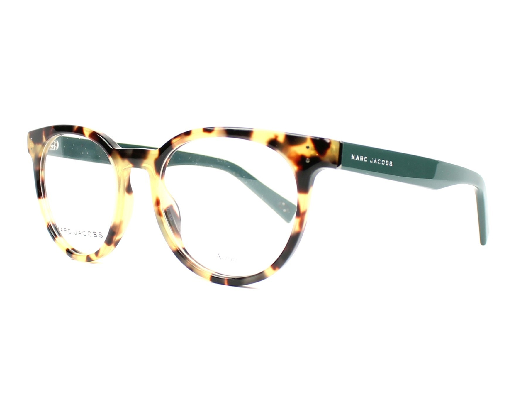 a855bc00eb7 eyeglasses Marc Jacobs MARC-126 P3M 49-18 Havana Green profile view