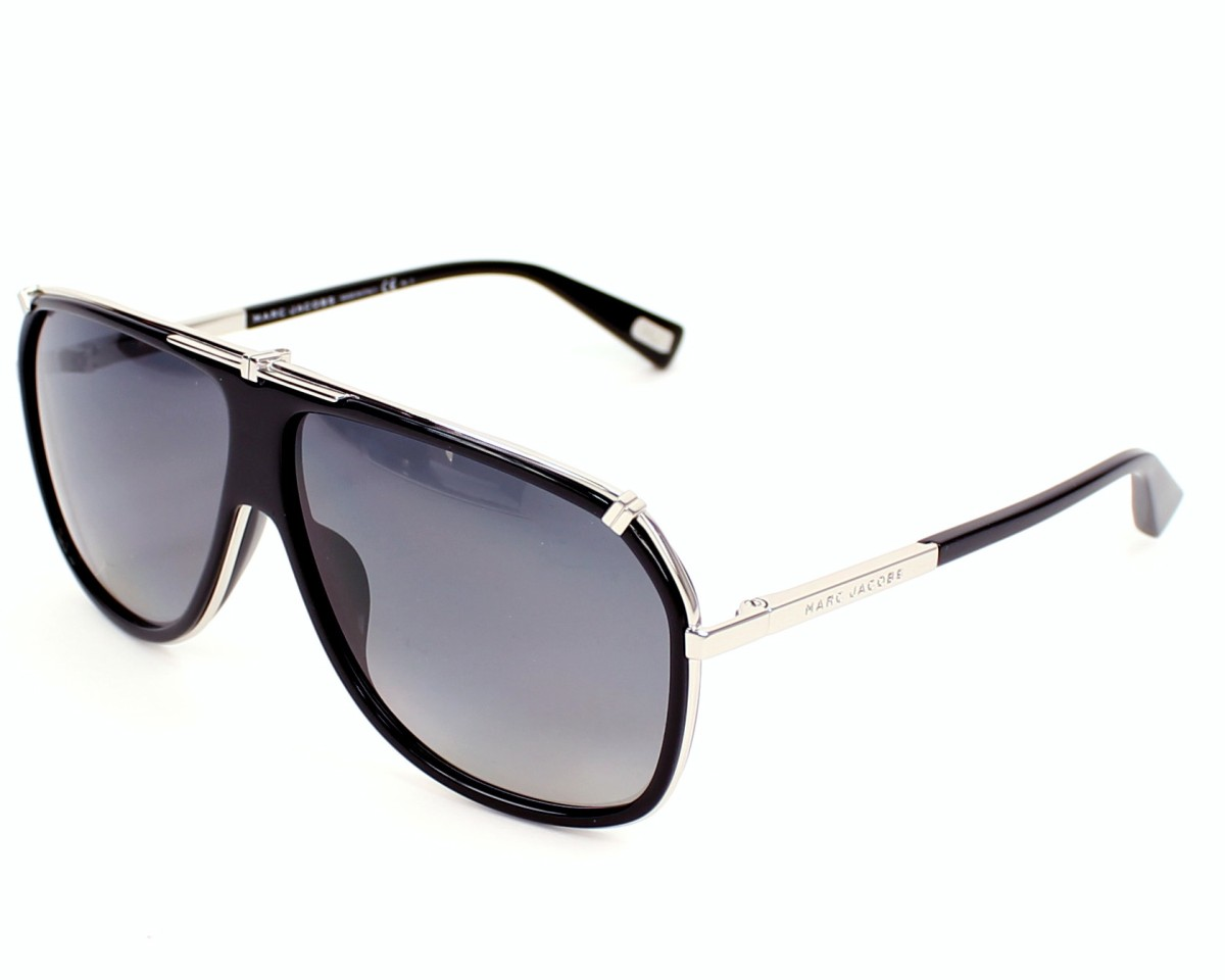 fc1a00198bd5 Sunglasses Marc Jacobs MJ-305-S 010 WJ - Black Silver profile view