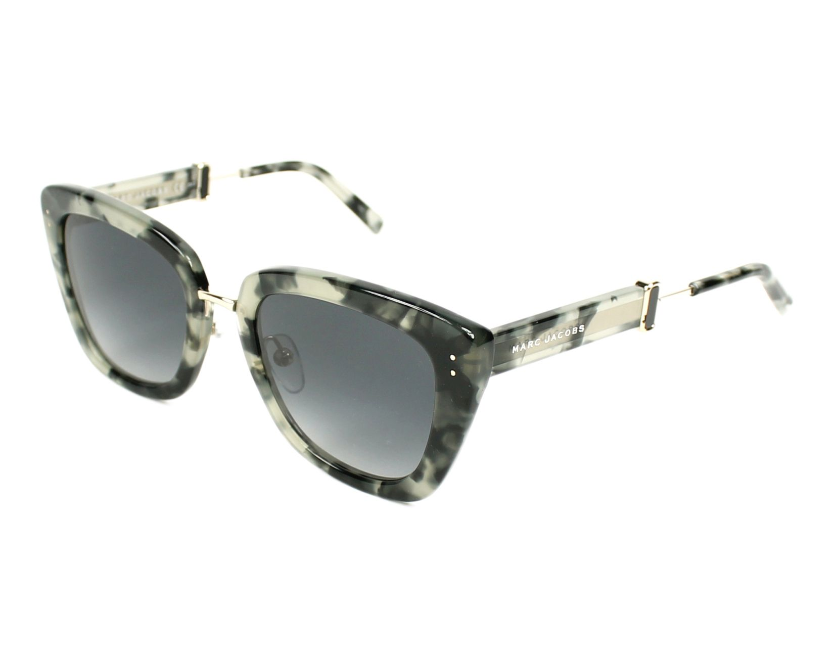 Womens Marc 131/S 9O Sunglasses, Grey Havana, 53 Marc Jacobs