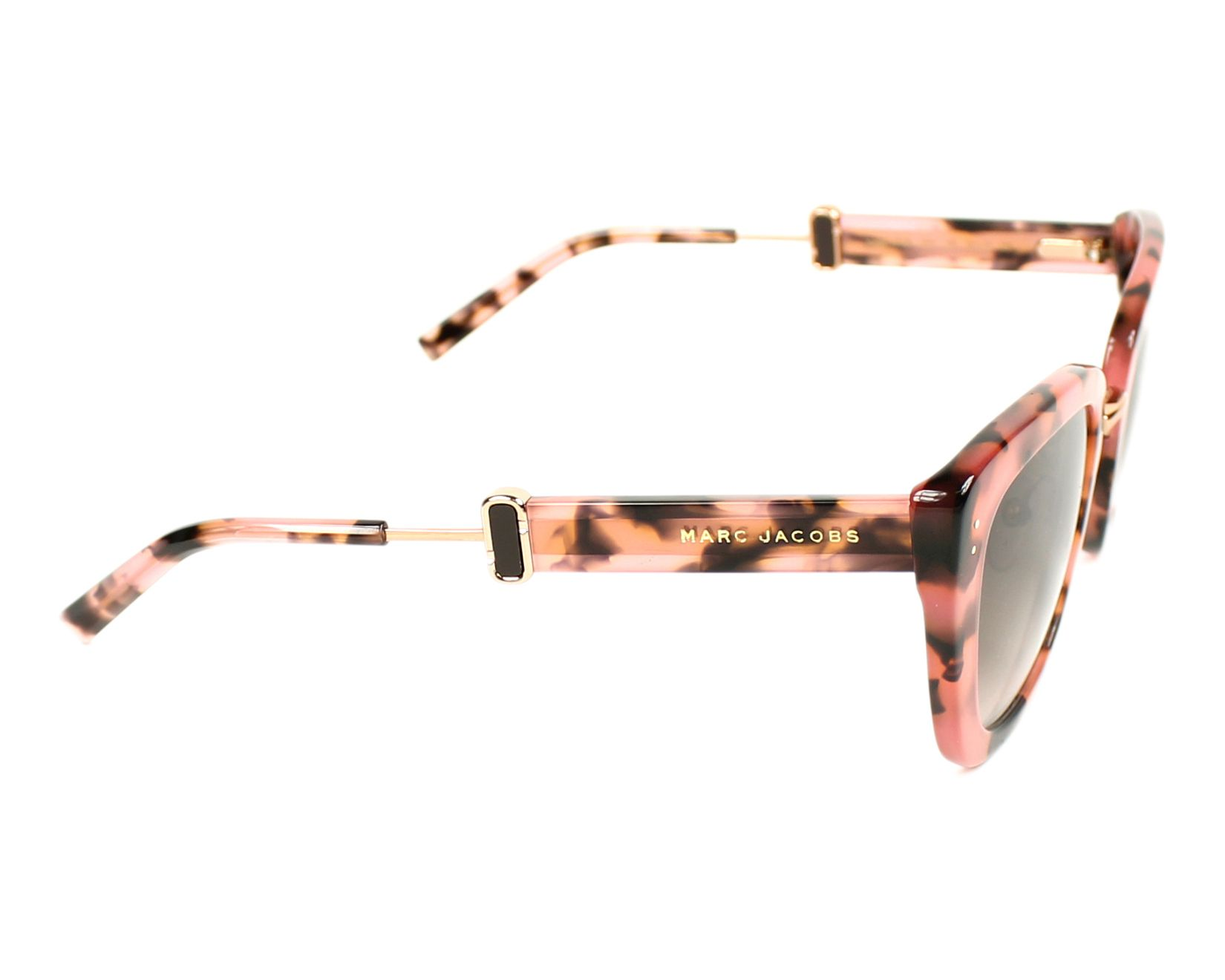 b281e6ba891a1 Sunglasses Marc Jacobs Marc-131-S PAY 53-23 Pink Gold side view