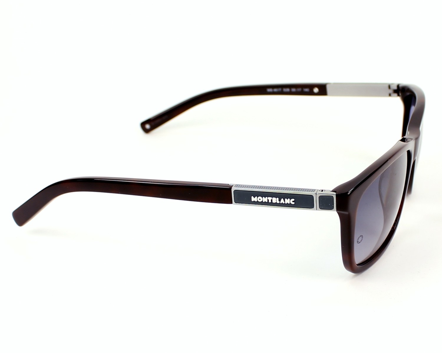 bbd7b45cf82 Sunglasses Mont Blanc MB-461-T 52B 58-17 Havana side view