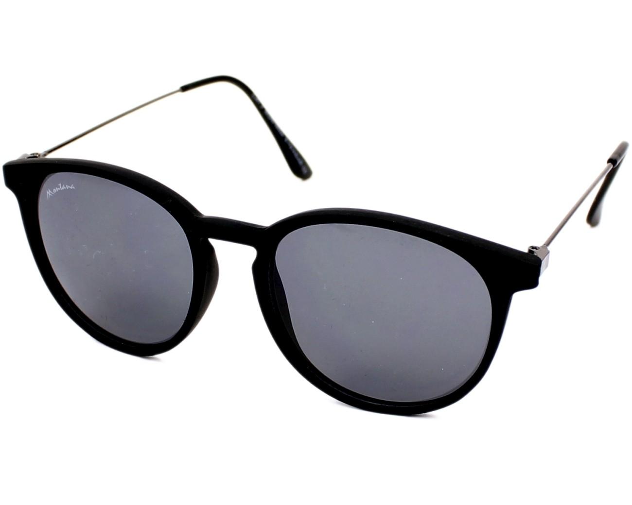 f27d6e676f4 Sunglasses Montana S-33 black 50-17 Black Gun profile view