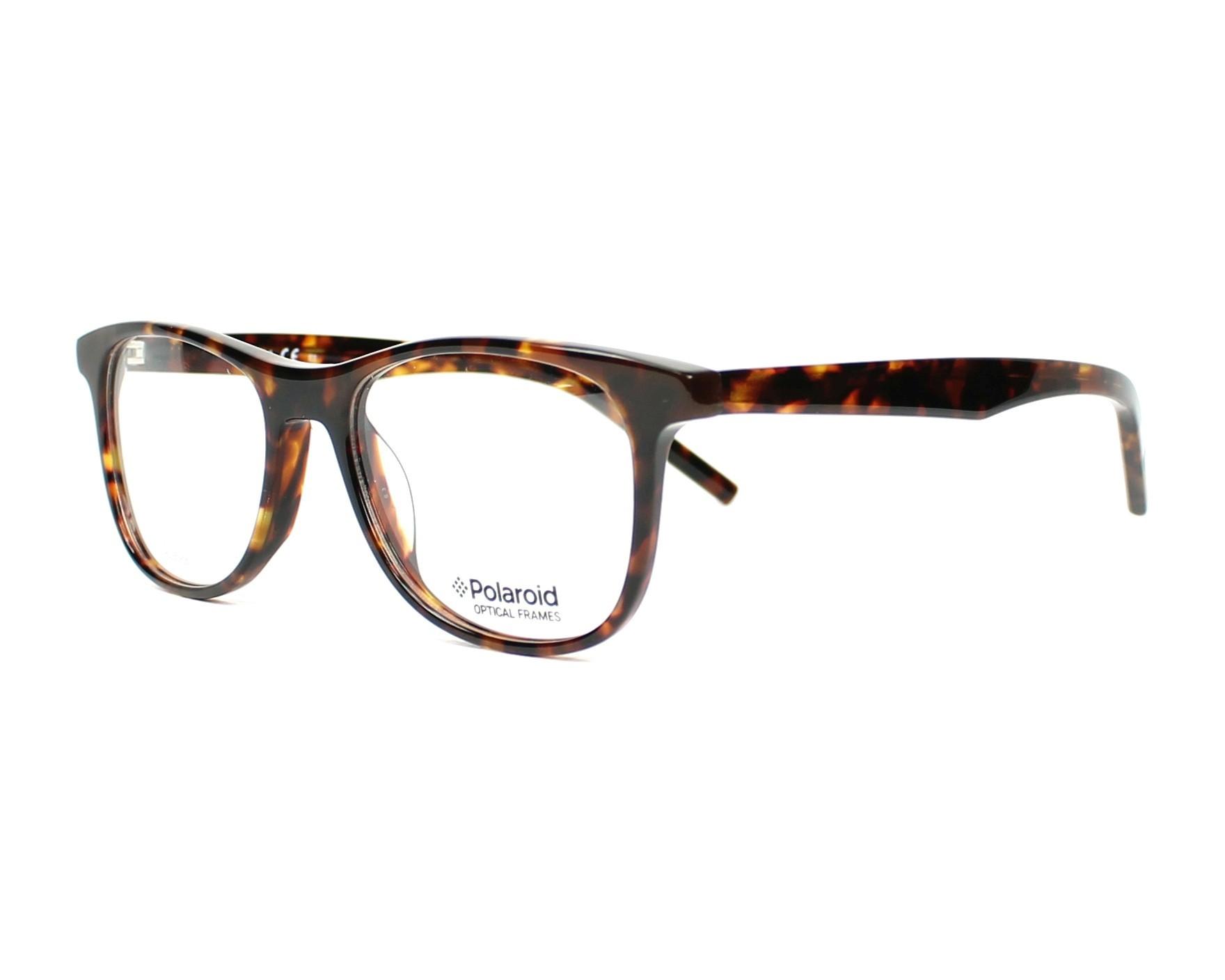 a3979ced8ded eyeglasses Polaroid PLDD-801 VSY 47-16 Havana profile view