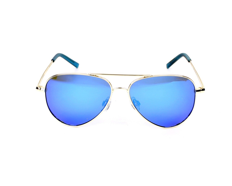 52 Polaroid Kids PLD 8015//N JY J5G Sunglasses Gold//Greyblmirror Pz