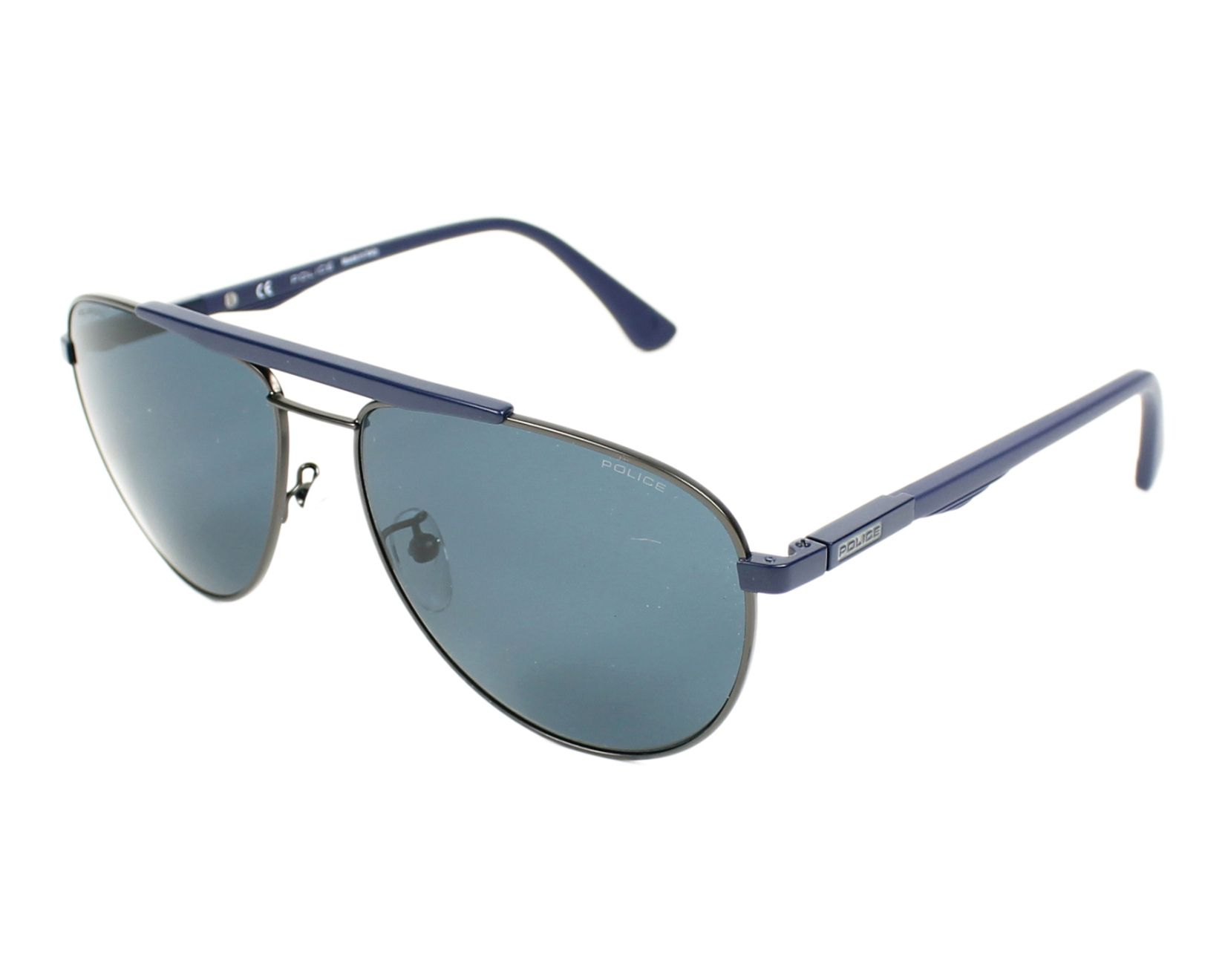 Police Sunglasses Blue With Grey Lenses Spl 364 Snfp Visionet Us