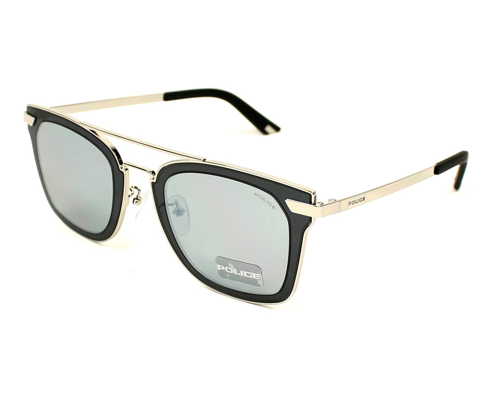 Police Sunglasses Silver With Grey Lenses Spl 348 579x Visionet Us