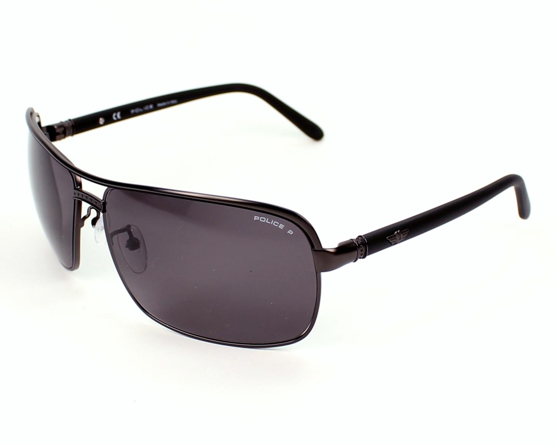 8595ce9226 Sunglasses Police S-8852 8H5P - Grey Black profile view
