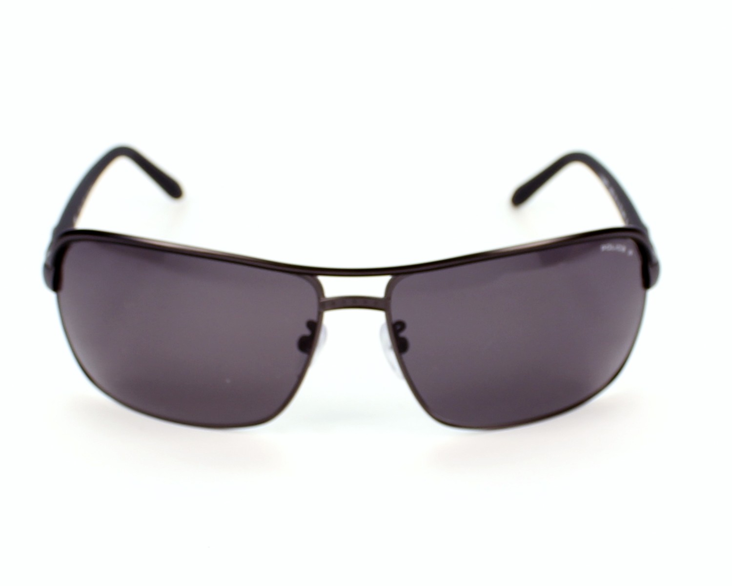 36e0afb707 Sunglasses Police S-8852 8H5P - Grey Black front view