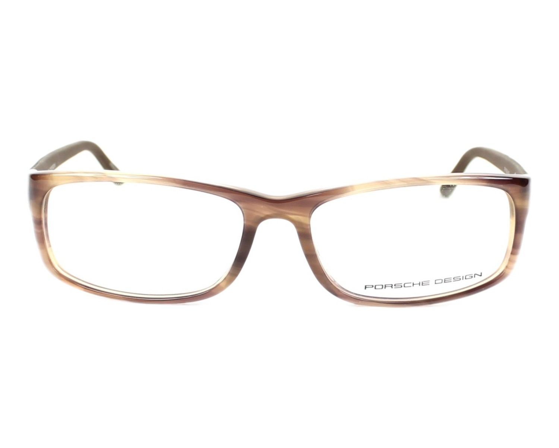7ff1db0beb4 eyeglasses Porsche Design P-8243 B 54-15 Brown Carbon front view