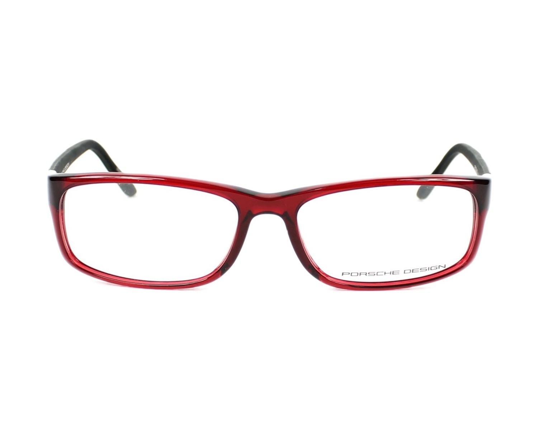 eda59585ebf eyeglasses Porsche Design P-8243 C 54-15 Red Carbon front view