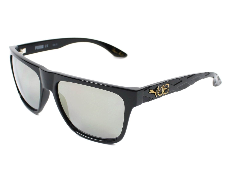 Puma Sunglasses Black with Grey blue Lenses PU-0008-S 007 - Visionet US