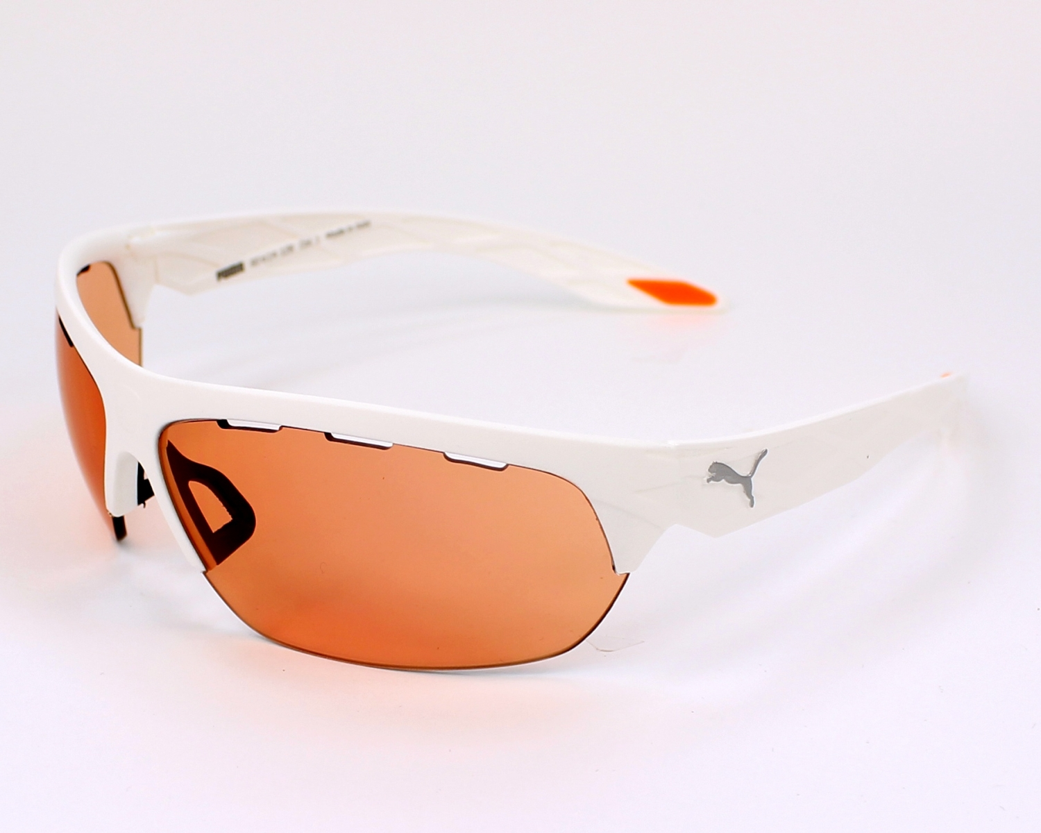 Puma Sunglasses White with Pink Lenses PU-0001-S 003 - Visionet US