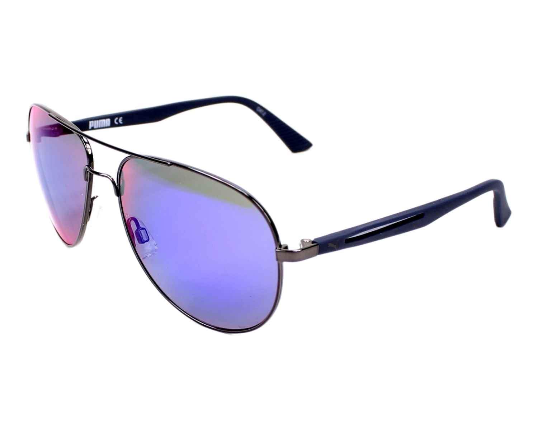 Puma Sunglasses Gun with Green Lenses PU-0007-S 004 - Visionet US
