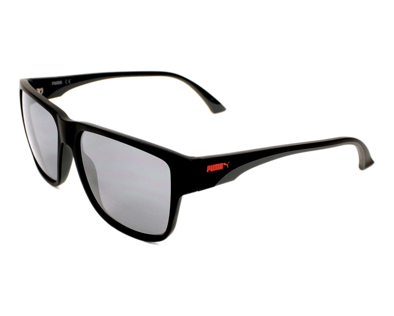 Puma Sunglasses Black with Black Lenses PU-0014-S 002 - Visionet US