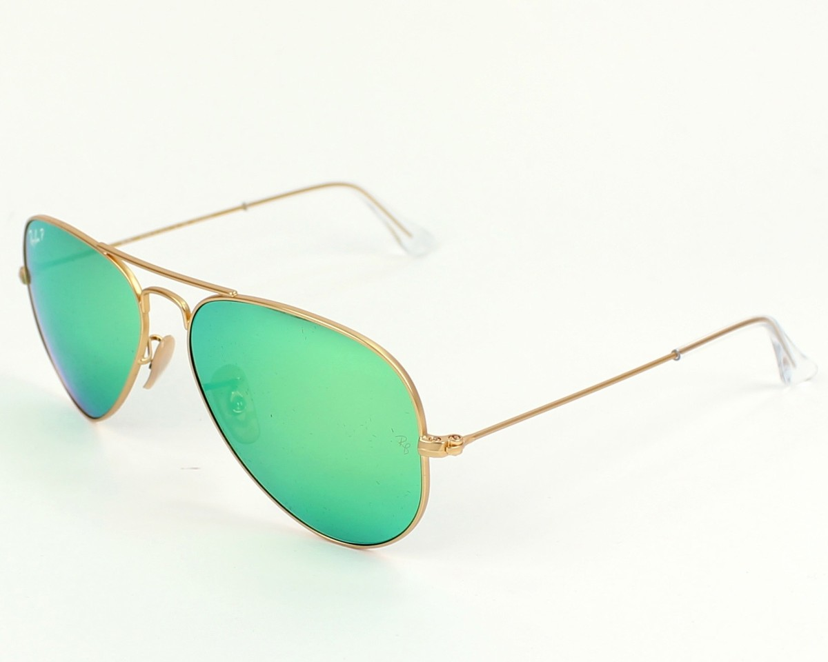 Sunglasses Ray-Ban RB-3025 112 P9 58-14 Gold profile view 1f5ca00413