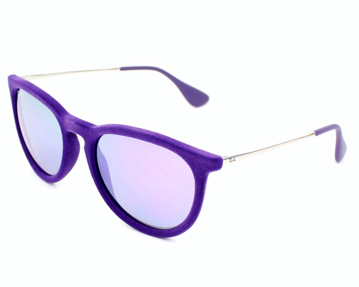 b81512e83b thumbnail Sunglasses Ray-Ban RB-4171 6080 4V - Purple Silver profile view