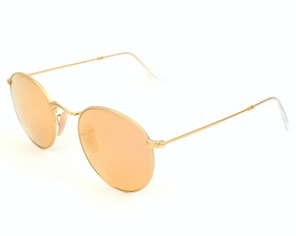 22db048f2cb Sunglasses Ray-Ban RB-3447 112 Z2 50-21 Gold profile view