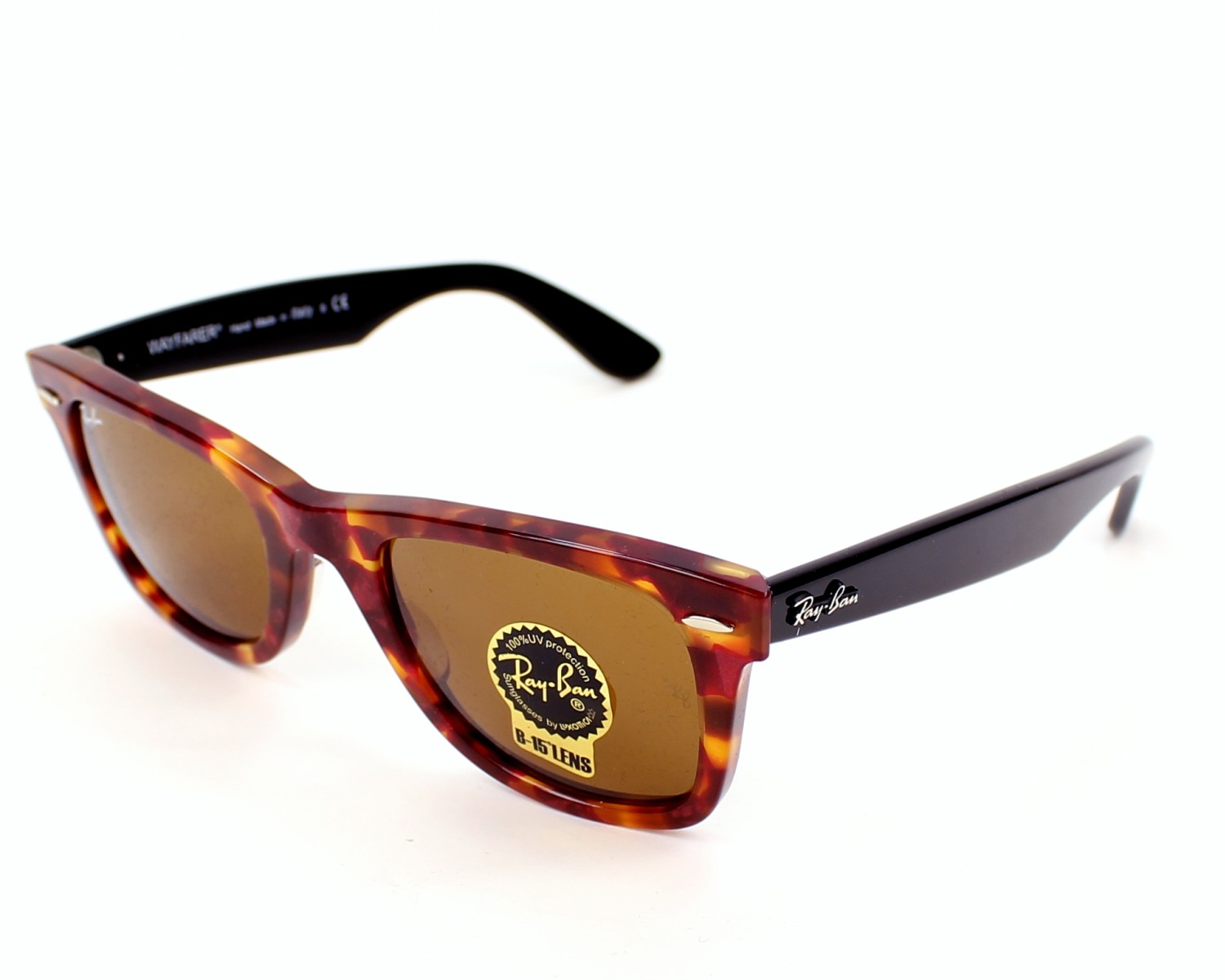 Ray-ban 2140 Wayfarer Purple And Red 966