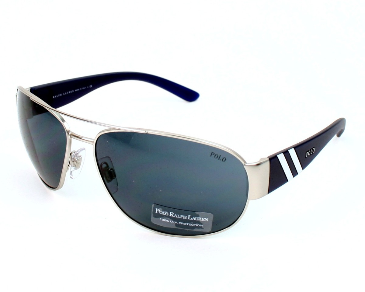 Polo Ralph Lauren Sunglasses Silver With Blue Lenses Ph