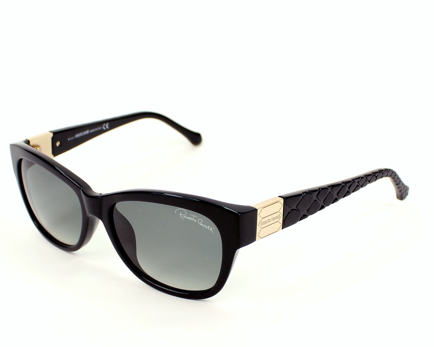1c9bbadd7a46 Sunglasses Roberto Cavalli RC-785-T 01B 55-16 Black Gold profile view