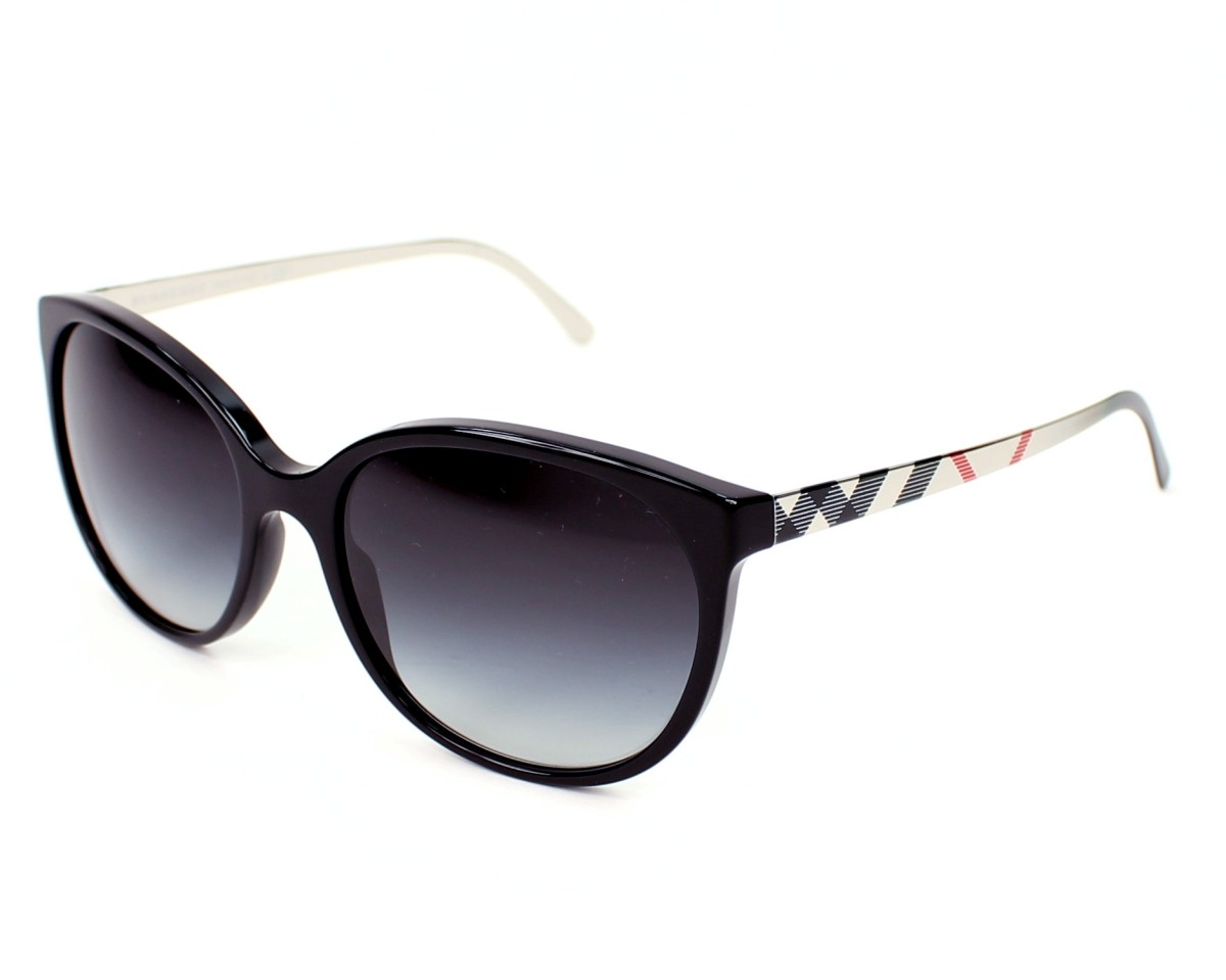 1450003a0c6 Sunglasses Burberry BE-4146 34068G 55-17 Black Gold profile view