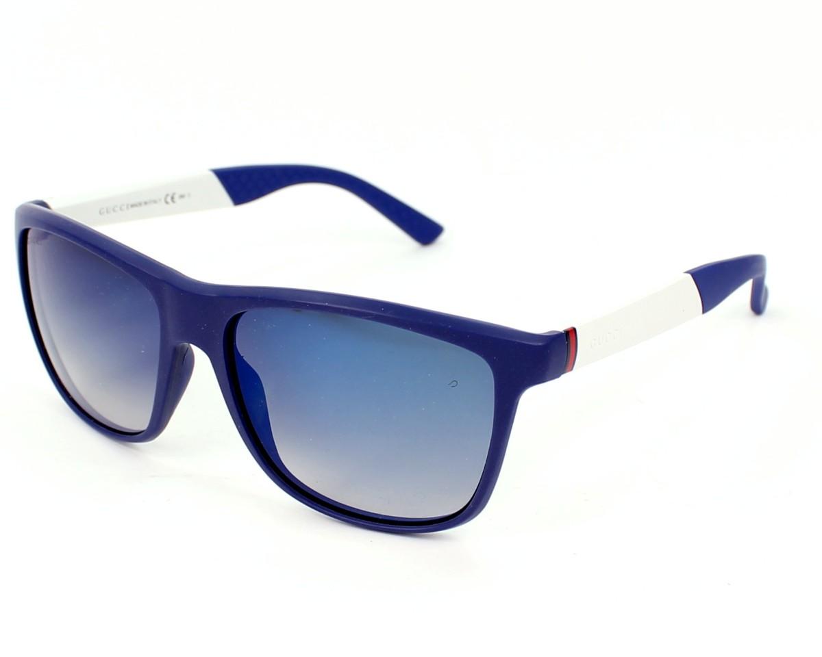 thumbnail Sunglasses Gucci GG-1047-S CVM/DK - Blue White profile view