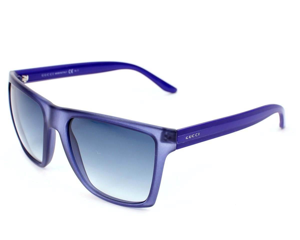 b3f86683d8f thumbnail Sunglasses Gucci GG-3535-S 214 08 - Blue profile view