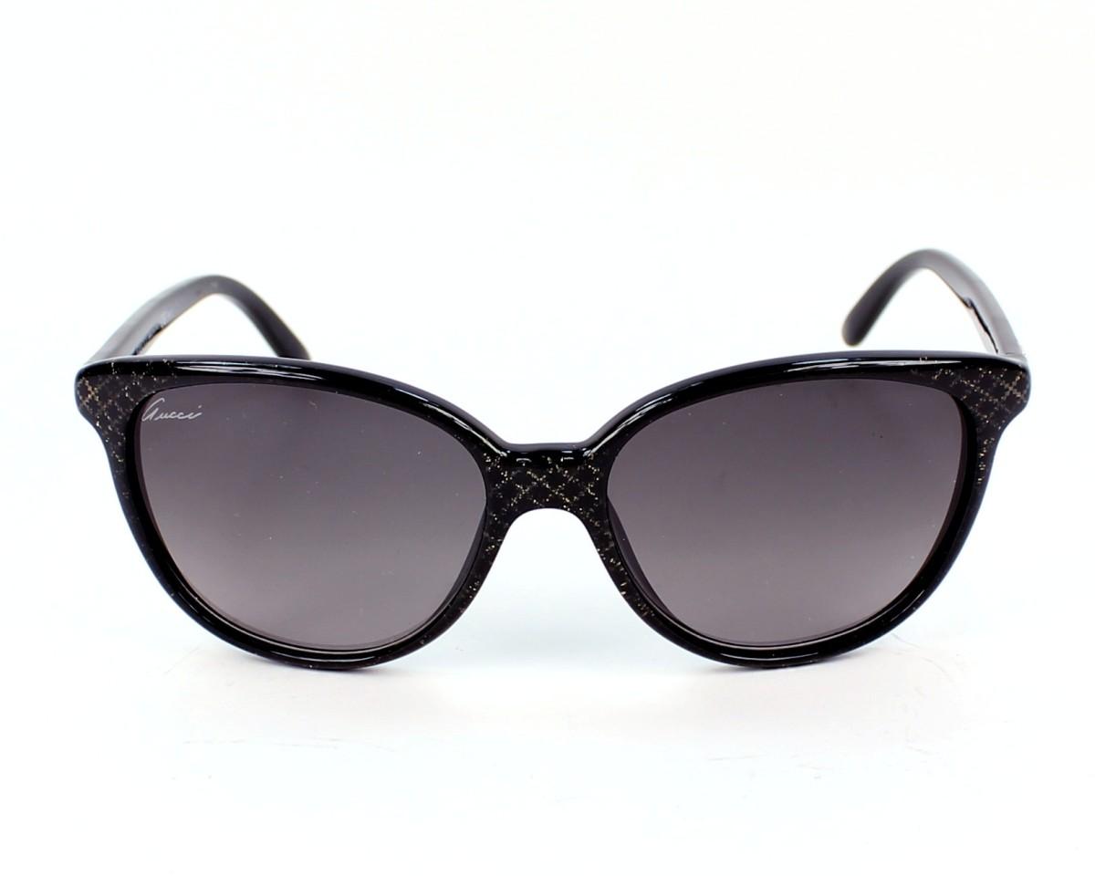 1800dc28299 thumbnail Sunglasses Gucci GG-3633-S DXF EU - Black front view