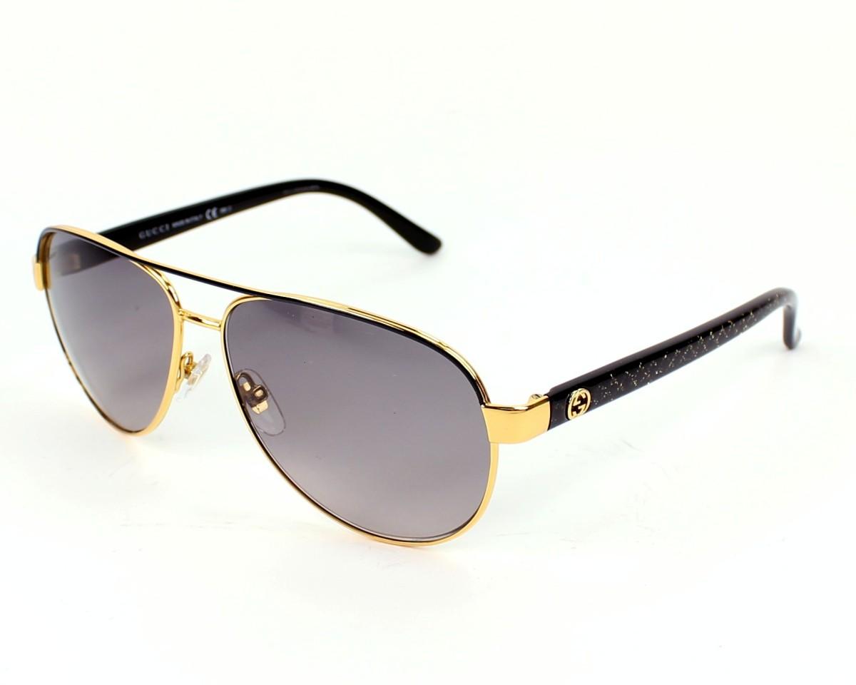 29a69228ff thumbnail Sunglasses Gucci GG-4239-S DYO EU - Gold Black profile view