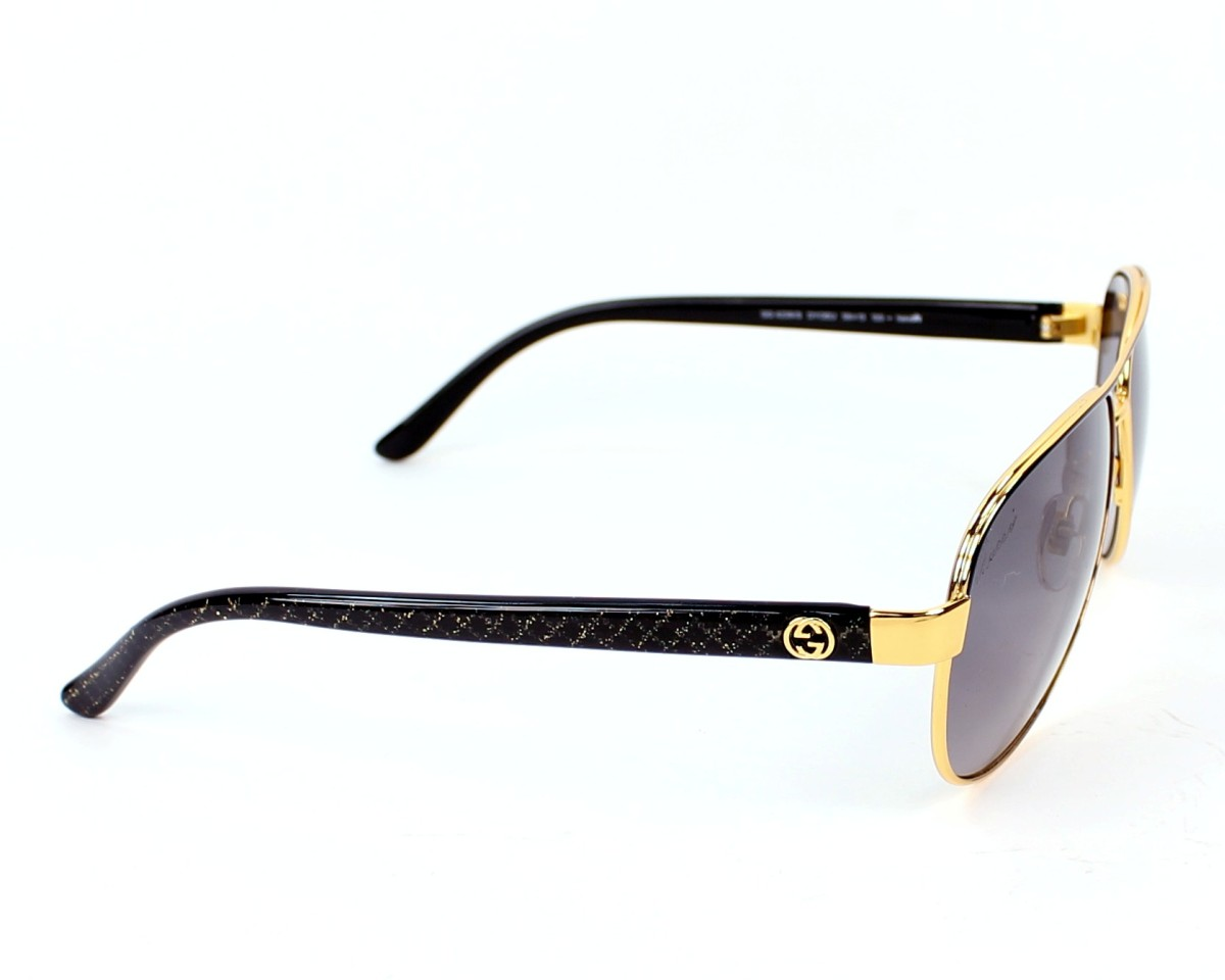 8be20b9bc0 thumbnail Sunglasses Gucci GG-4239-S DYO EU - Gold Black side view