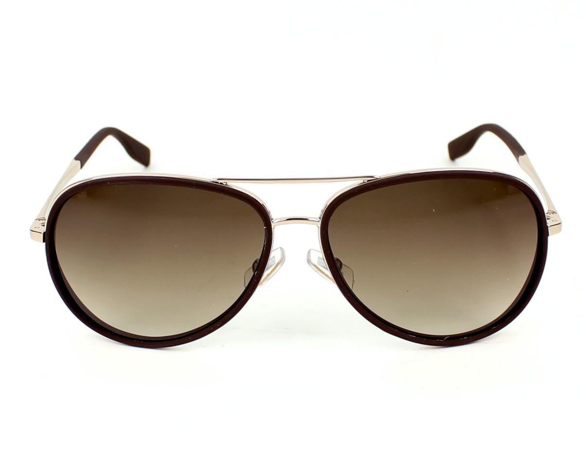 a6e2f6a3f Sunglasses Hugo Boss Boss-0510-S 3YG-HA - Brown Gold front view