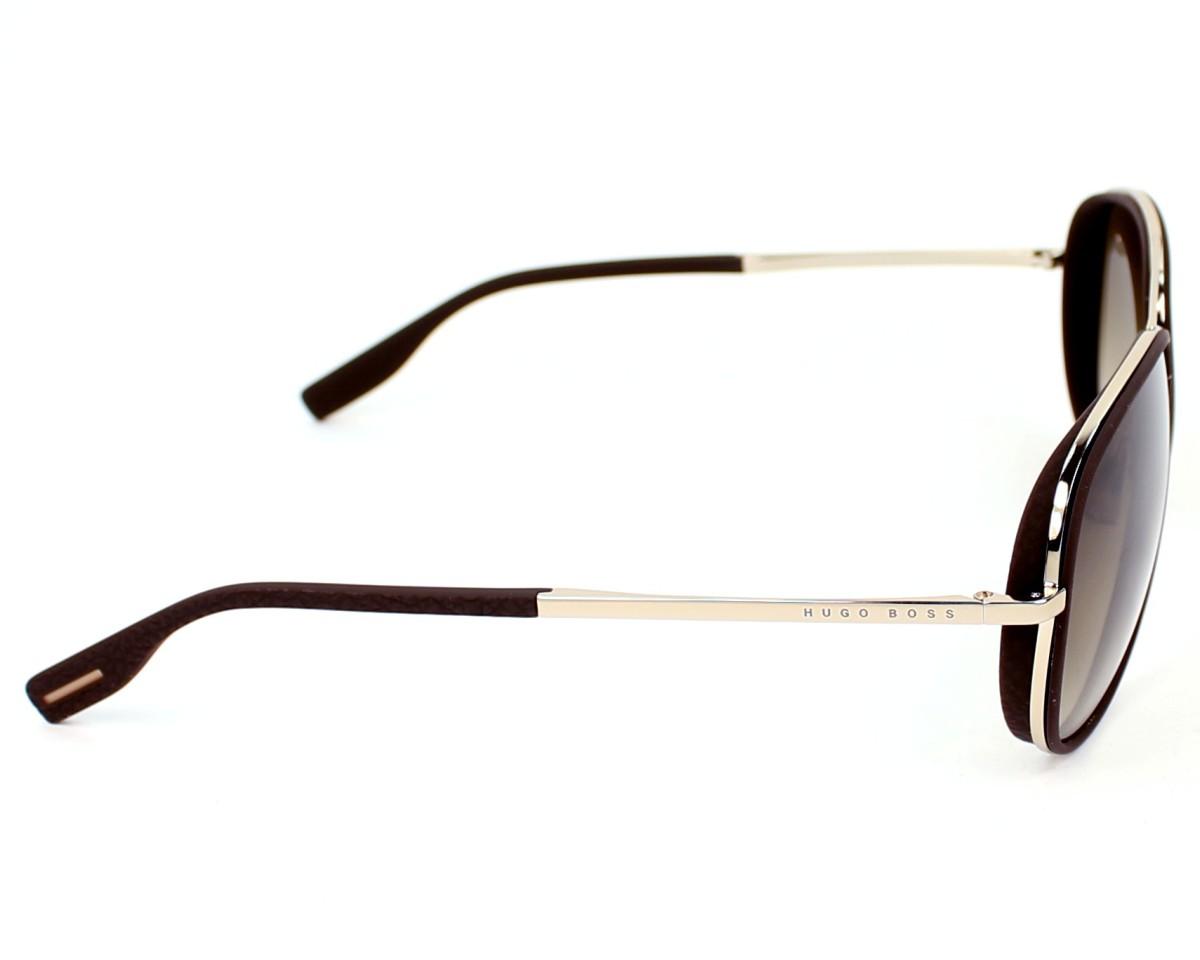 19450bb48 Sunglasses Hugo Boss Boss-0510-S 3YG-HA - Brown Gold side view
