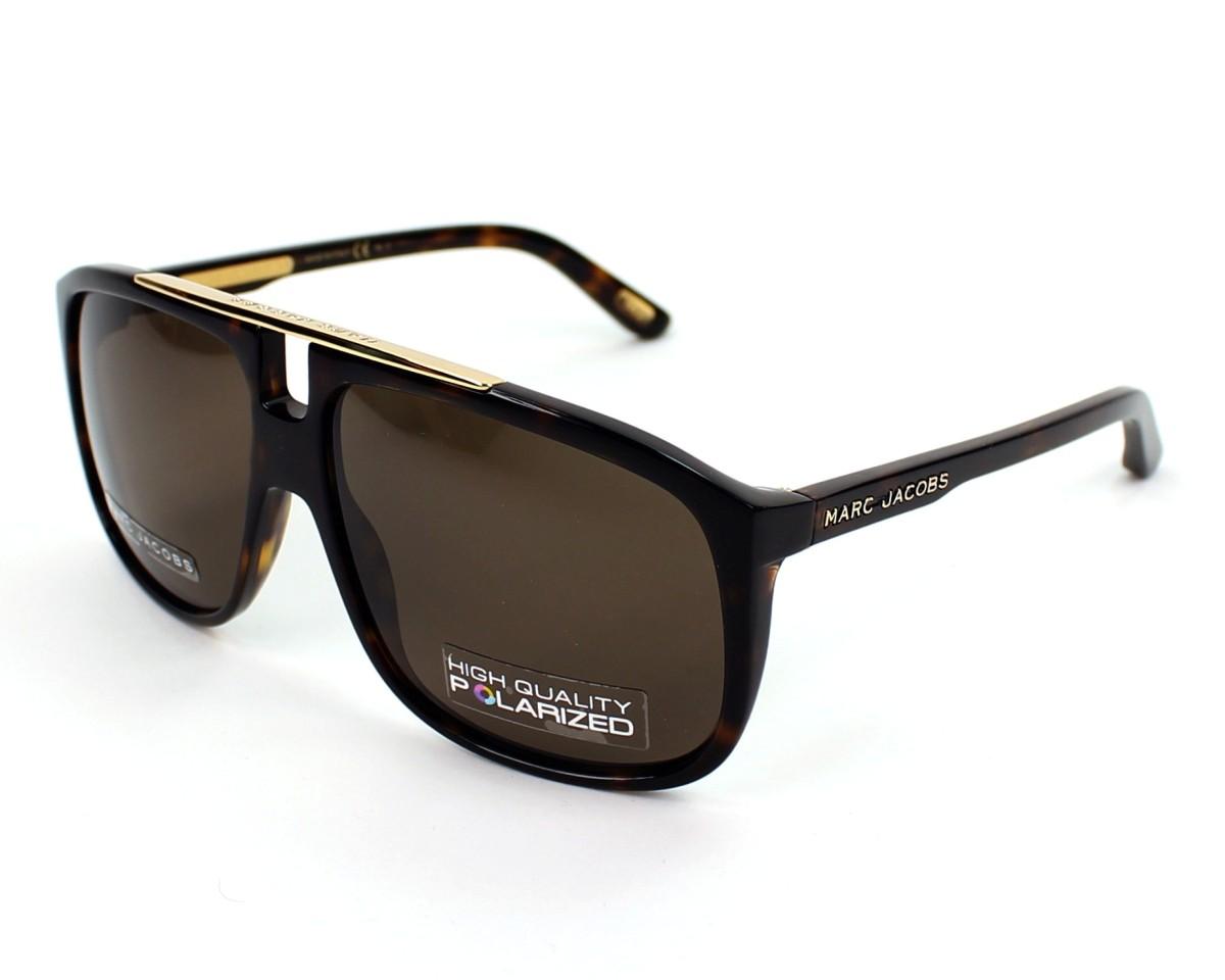 bcec1cc9c357 thumbnail Sunglasses Marc Jacobs MJ-252-S 086/SP - Havana profile view