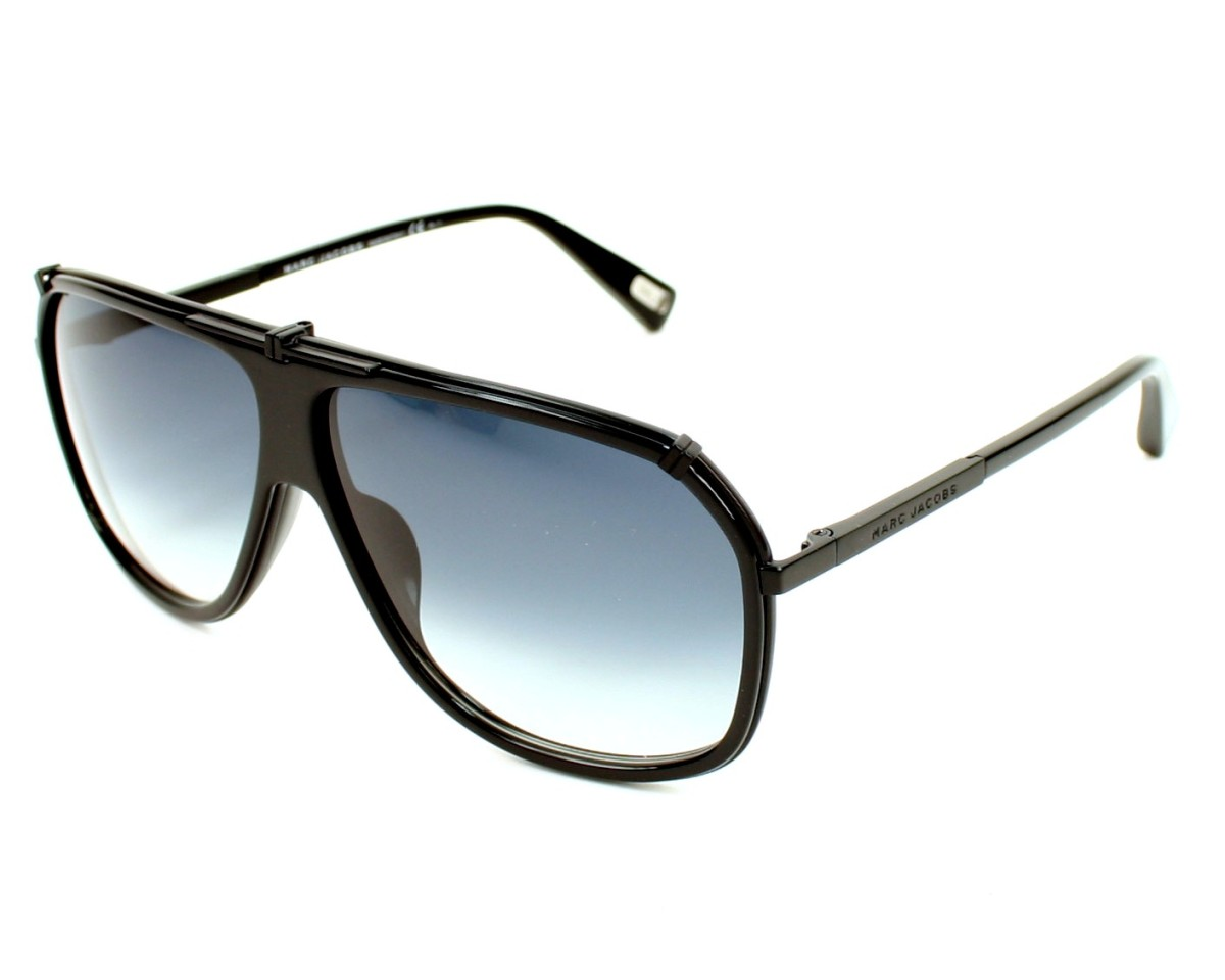 5ab7b768105e thumbnail Sunglasses Marc Jacobs MJ-305-S PDE/JJ - Black profile view
