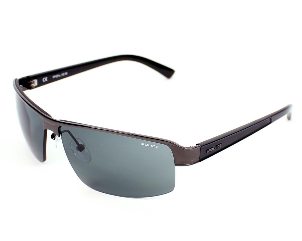 4f83b9d55fc Sunglasses Police S-8855 0584 68-4 Gun Black profile view