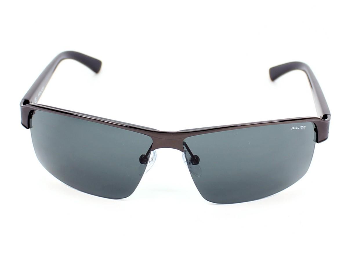 7c9c6dfa34a Sunglasses Police S-8855 0584 68-4 Gun Black front view